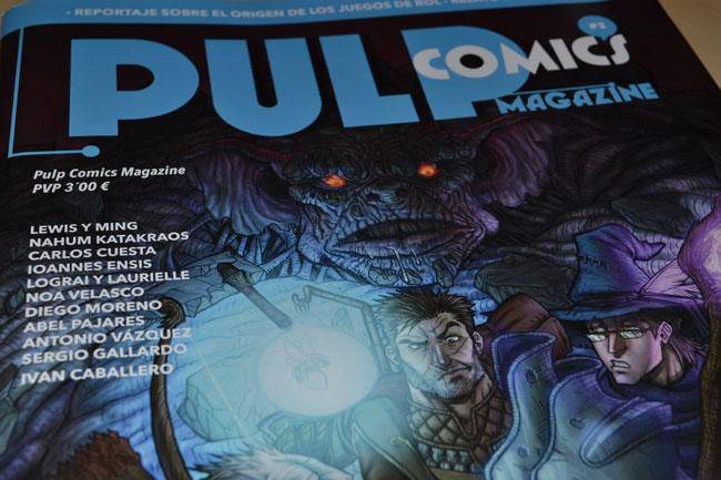 Portada del número 2 de Pulp Cómics Magazine