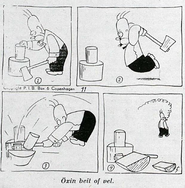 Tira publicada en Dinamarca en 1949.