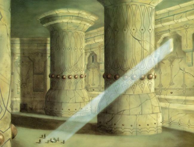 La Cámara de Mazarbul, por Alan Lee