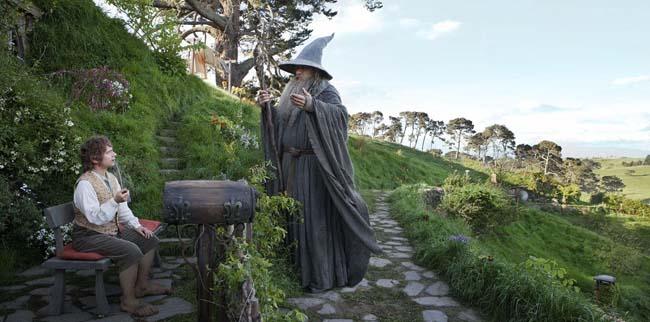 El hobbit: un viaje inesperado. Bilbo y Gandalf