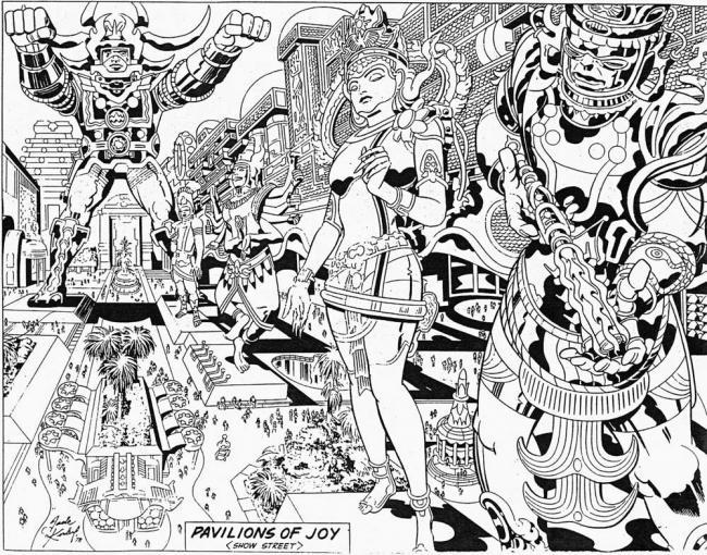 Boceto de Jack Kirby para Lord of Light (ARGO)