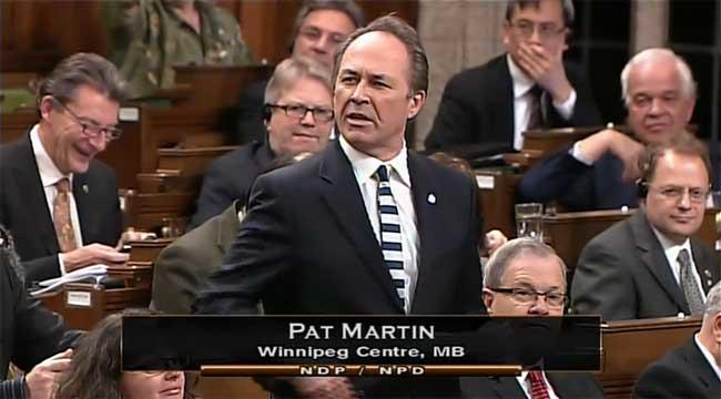 Pat Martin, diputado por Winnipeg, preguntando por la preparación ante una amenaza zombi